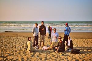 Na plaži ob Kaspijskem jezeru